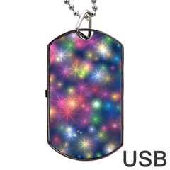 Abstract Background Graphic Space Dog Tag Usb Flash (one Side)