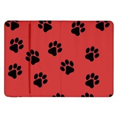 Paw Prints Background Animal Samsung Galaxy Tab 8 9  P7300 Flip Case by HermanTelo
