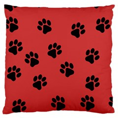 Paw Prints Background Animal Standard Flano Cushion Case (two Sides) by HermanTelo