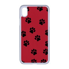 Paw Prints Background Animal Iphone Xr Seamless Case (white)
