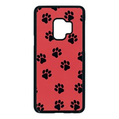 Paw Prints Background Animal Samsung Galaxy S9 Seamless Case(black) by HermanTelo