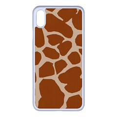 Giraffe Skin Pattern Iphone Xs Max Seamless Case (white)