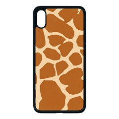 Giraffe Skin Pattern Iphone Xs Max Seamless Case (black)