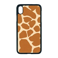 Giraffe Skin Pattern Iphone Xr Seamless Case (black)
