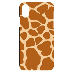 Giraffe Skin Pattern Iphone X/xs Black Uv Print Case