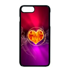 Flame Heart Smoke Love Fire Iphone 8 Plus Seamless Case (black)