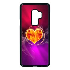 Flame Heart Smoke Love Fire Samsung Galaxy S9 Plus Seamless Case(black)