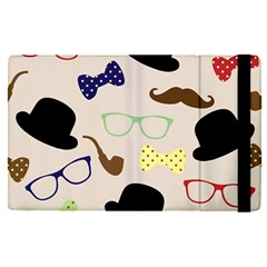 Moustache Hat Bowler Apple Ipad Mini 4 Flip Case