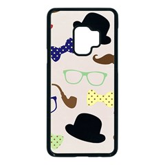 Moustache Hat Bowler Samsung Galaxy S9 Seamless Case(black) by HermanTelo