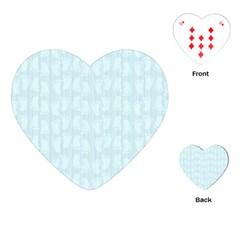 Footprints Pattern Paper Scrapbooking Blue Playing Cards (heart) by HermanTelo