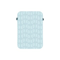 Footprints Pattern Paper Scrapbooking Blue Apple Ipad Mini Protective Soft Cases by HermanTelo