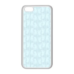 Footprints Pattern Paper Scrapbooking Blue Iphone 5c Seamless Case (white) by HermanTelo