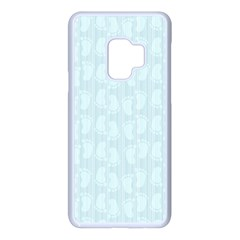 Footprints Pattern Paper Scrapbooking Blue Samsung Galaxy S9 Seamless Case(white)