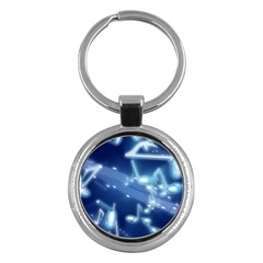Music Sound Musical Love Melody Key Chains (round)  by HermanTelo