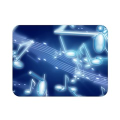 Music Sound Musical Love Melody Double Sided Flano Blanket (mini)