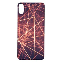Light Fiber Black Fractal Art Iphone X/xs Soft Bumper Uv Case
