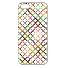 Grid Colorful Multicolored Square Apple Seamless Iphone 5 Case (clear) by HermanTelo