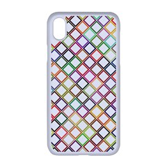 Grid Colorful Multicolored Square Iphone Xr Seamless Case (white)