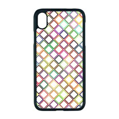Grid Colorful Multicolored Square Iphone Xr Seamless Case (black)