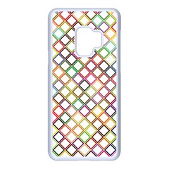 Grid Colorful Multicolored Square Samsung Galaxy S9 Seamless Case(white) by HermanTelo
