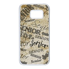 Graduation School Celebration Samsung Galaxy S7 White Seamless Case by HermanTelo