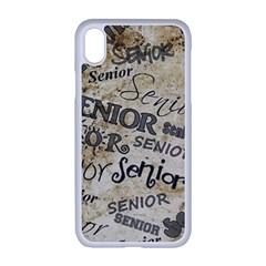 Graduation School Celebration Iphone Xr Seamless Case (white)