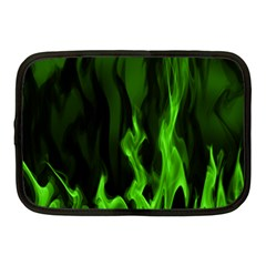 Smoke Flame Abstract Green Netbook Case (medium) by HermanTelo