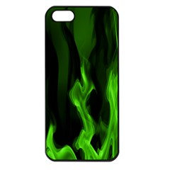 Smoke Flame Abstract Green Iphone 5 Seamless Case (black) by HermanTelo