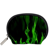 Smoke Flame Abstract Green Accessory Pouch (small) by HermanTelo