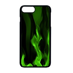 Smoke Flame Abstract Green Iphone 8 Plus Seamless Case (black)