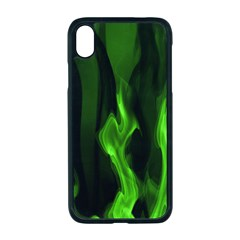 Smoke Flame Abstract Green Iphone Xr Seamless Case (black)