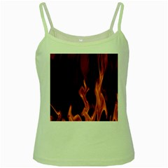 Smoke Flame Abstract Orange Red Green Spaghetti Tank by HermanTelo