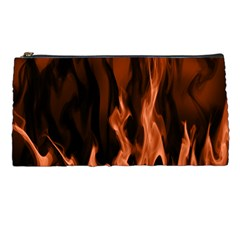 Smoke Flame Abstract Orange Red Pencil Cases