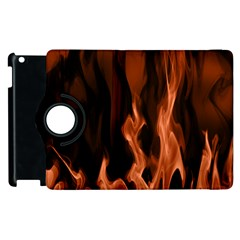 Smoke Flame Abstract Orange Red Apple Ipad 2 Flip 360 Case by HermanTelo