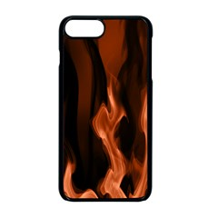 Smoke Flame Abstract Orange Red Iphone 8 Plus Seamless Case (black)