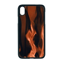 Smoke Flame Abstract Orange Red Iphone Xr Seamless Case (black)