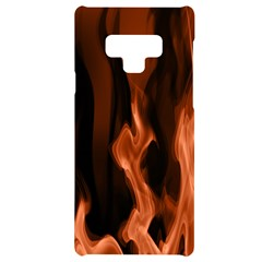 Smoke Flame Abstract Orange Red Samsung Note 9 Black Uv Print Case