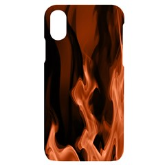 Smoke Flame Abstract Orange Red Iphone X/xs Black Uv Print Case by HermanTelo