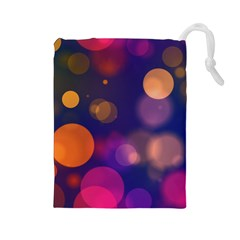 Seamless Pattern Design Tiling Drawstring Pouch (large) by HermanTelo
