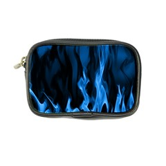 Smoke Flame Abstract Blue Coin Purse