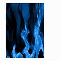 Smoke Flame Abstract Blue Small Garden Flag (two Sides)