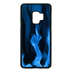 Smoke Flame Abstract Blue Samsung Galaxy S9 Seamless Case(black)