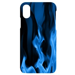 Smoke Flame Abstract Blue Iphone X/xs Black Uv Print Case