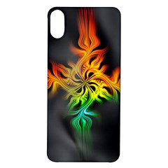 Smoke Rainbow Abstract Fractal Iphone X/xs Soft Bumper Uv Case