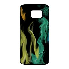 Smoke Rainbow Colors Colorful Fire Samsung Galaxy S7 Edge Black Seamless Case by HermanTelo
