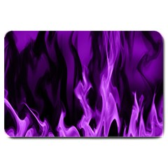 Smoke Flame Abstract Purple Large Doormat