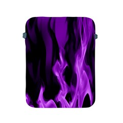 Smoke Flame Abstract Purple Apple Ipad 2/3/4 Protective Soft Cases
