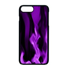 Smoke Flame Abstract Purple Iphone 8 Plus Seamless Case (black)