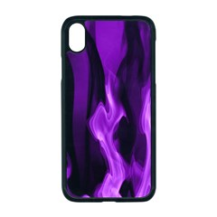 Smoke Flame Abstract Purple Iphone Xr Seamless Case (black)