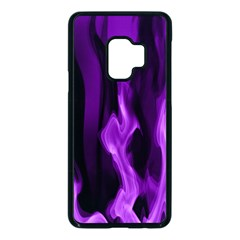 Smoke Flame Abstract Purple Samsung Galaxy S9 Seamless Case(black)